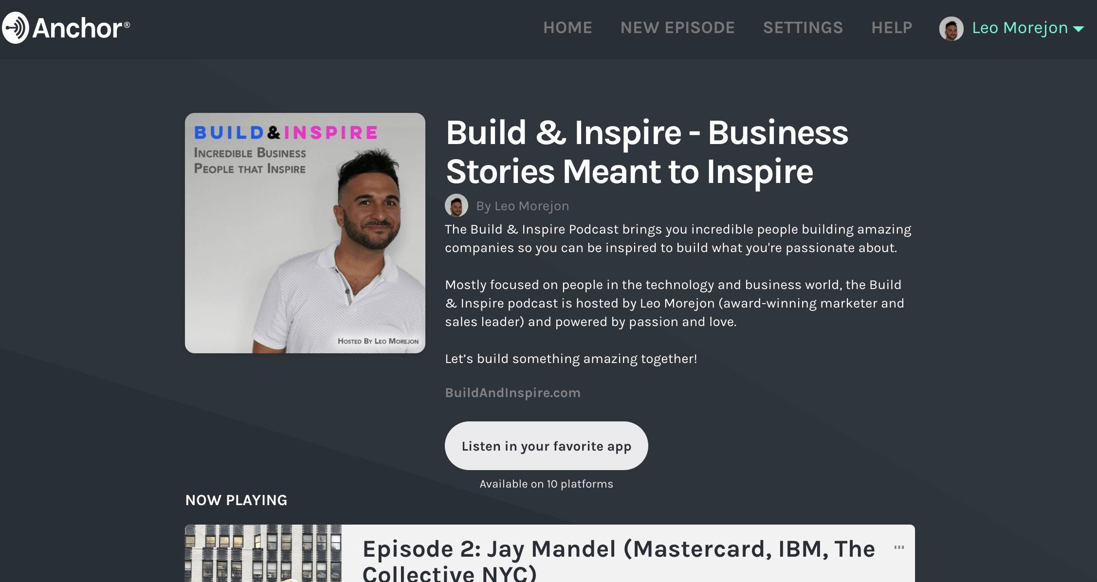 Build & Inspire Podcast - Business Stories Meant to Inspire