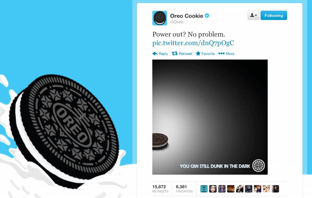 Oreo Super Bowl Blackout Tweet